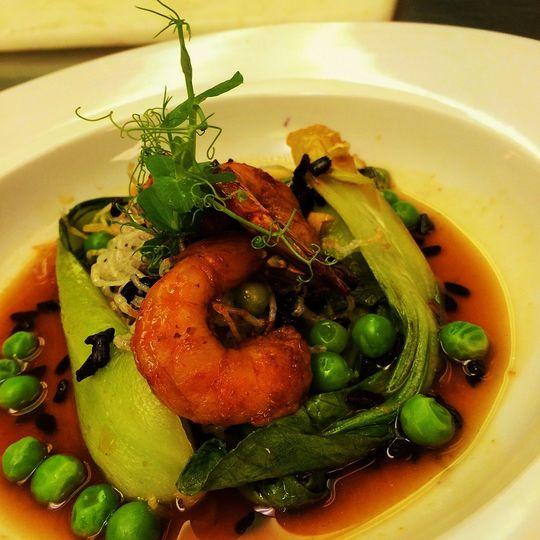 shrimp and peas