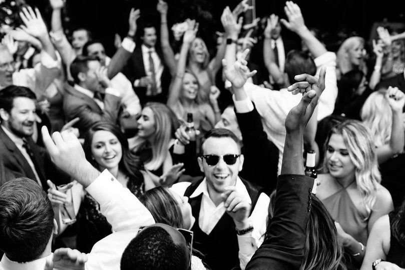 Crowd partying
