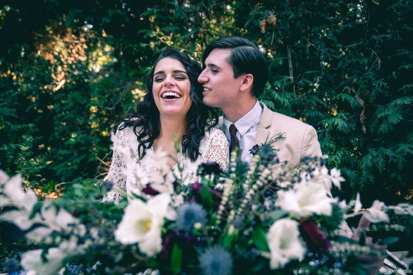 A joyous couple