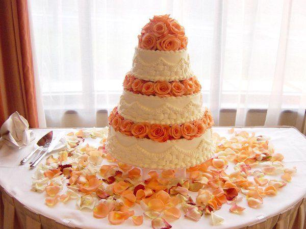 With orange flowers in between