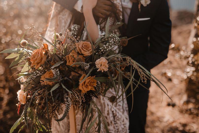 Autumn mountain wedding