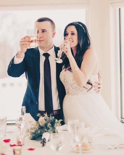 Toast from the newlyweds
