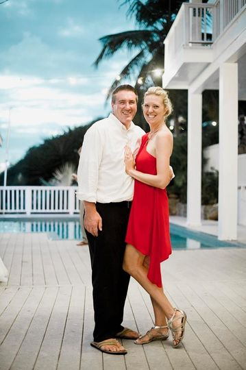 His beautiful wife, wedding planner of island bliss weddings in the us virgin islands and beach...