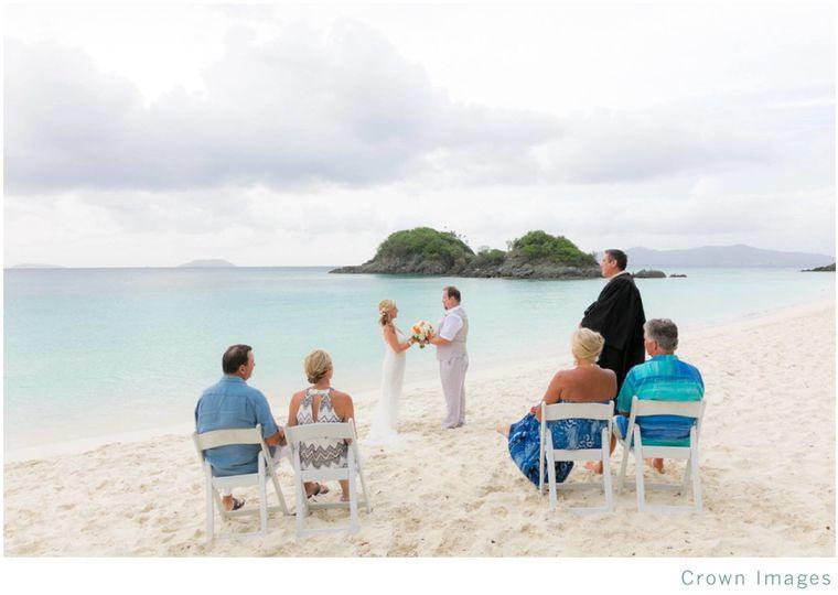 Ceremony on trunk bay beach