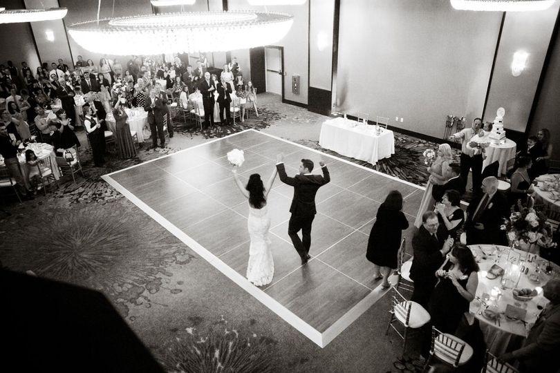 Couple in the dance floor