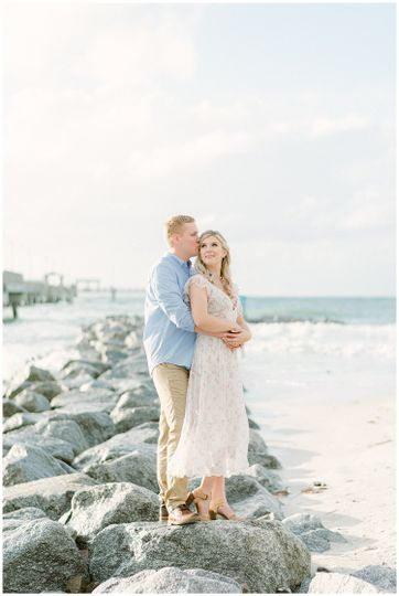 Romantic coastal engagement