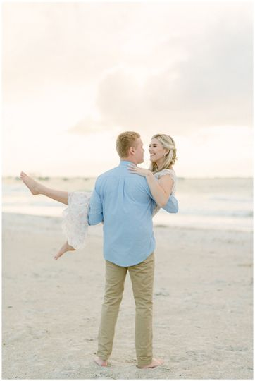 Romantic Beach Engagement