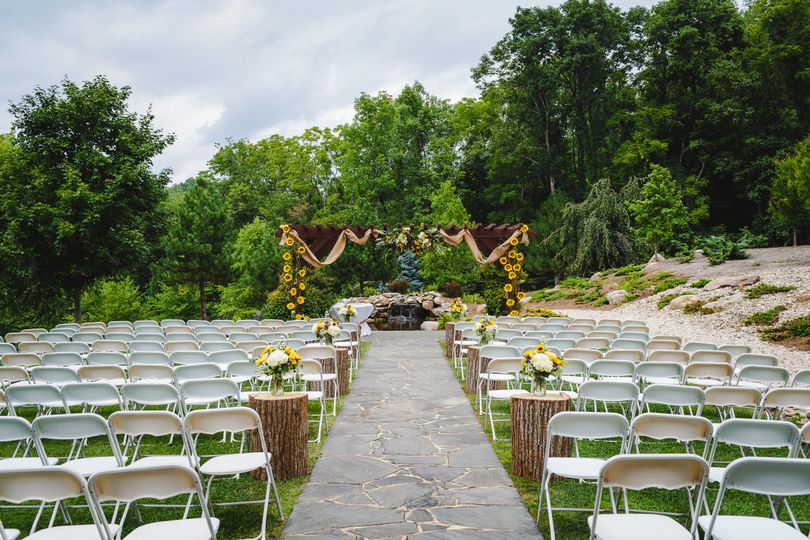 Outdoor chairs setting