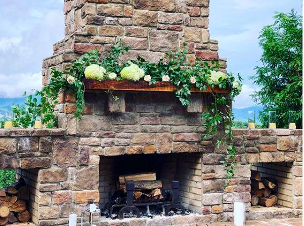 Fireplace at Irvine Estate