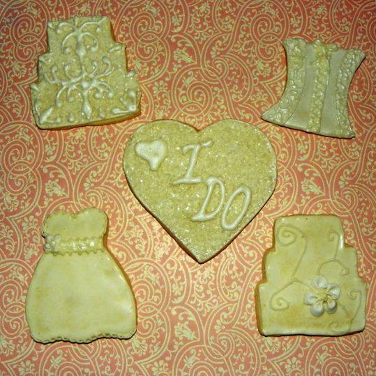 Designer Cookie Wedding Favors
