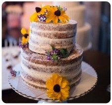 shabby chic boho chic naked cake floral flower rustic chic country yellow purple simple romantic