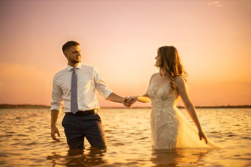 Sunset Wedding In the Lake
