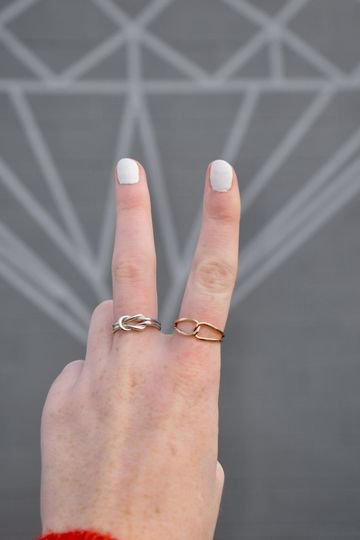 Handcrafted Knot Rings