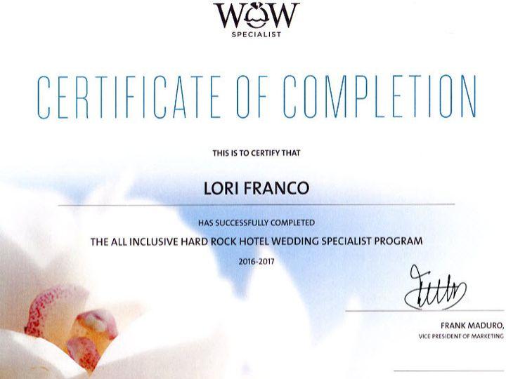 Tmx 1472755855952 Hard Rock Wow Certifacate Warwick, RI wedding travel