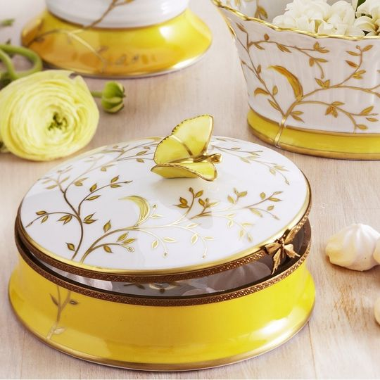 Luxury hand-painted Limoges Porcelain