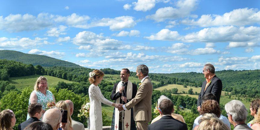 Sweet outdoor wedding
