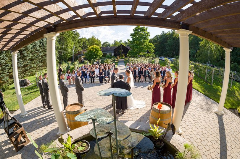 Outdoor ceremony in july