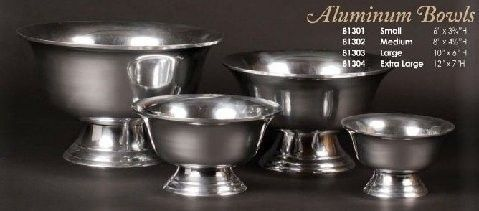 Silver Revere Bowls available in 6, 8, 10, and 12 Inch Diameter. See also our coordinating 30 Inch...