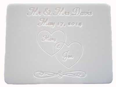 This Cutting Board features an engraved Personalized Wedding Hearts Design that makes a perfect...