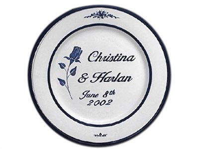 Personalized Wedding Anniversary Plates - The round plate is approximately 11 inches in diameter...