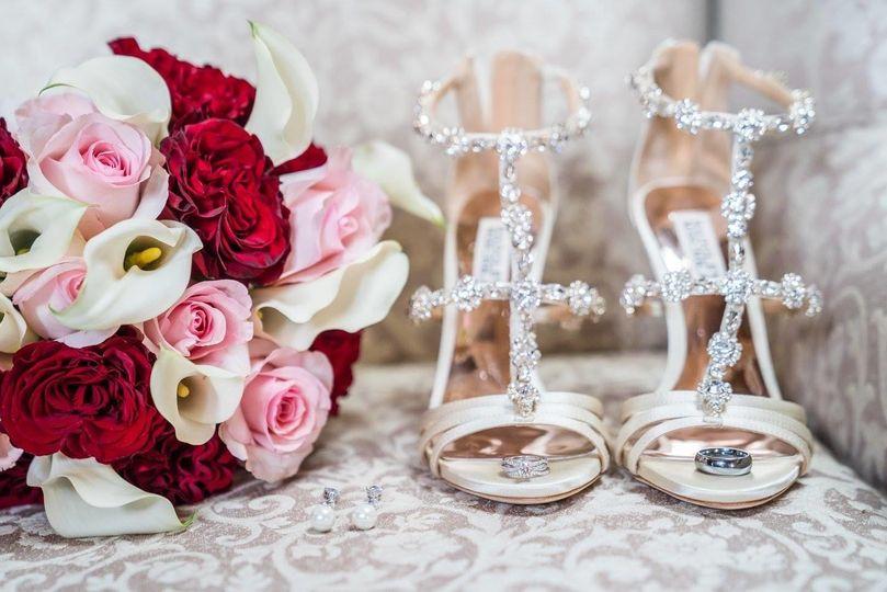 Diamonds and designer shoes!