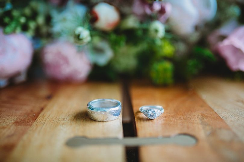 Custom designed wedding sets