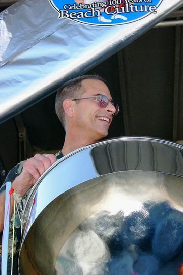 playing a steel drum from Trinidad