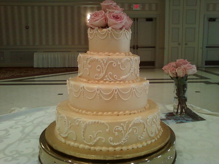 blush with scrollwork and string