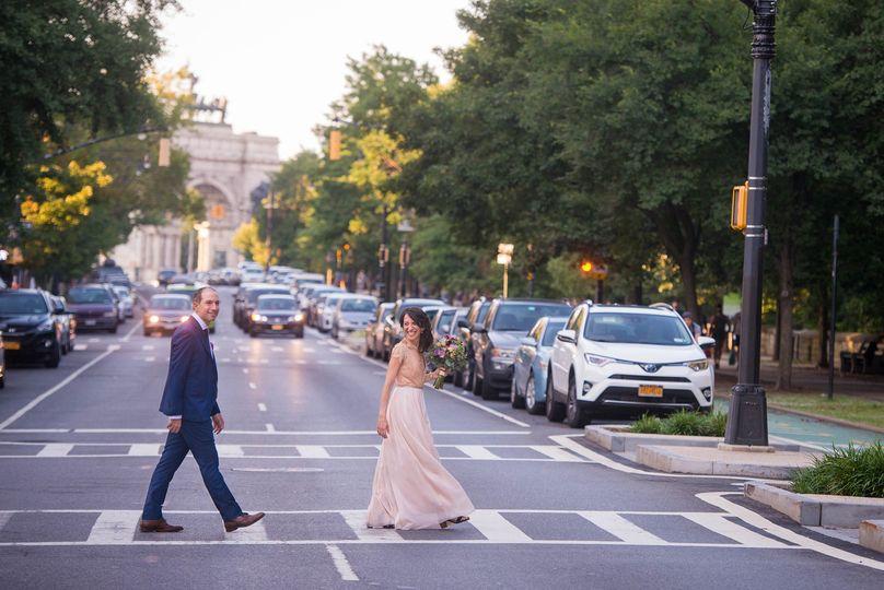 Brooklyn wedding walk