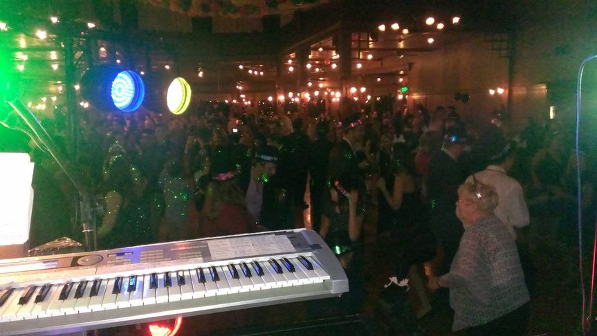 view from the keyboards at Mohonk Mountain House 2015 NY Eve. We've played at Mohonk for over 15...