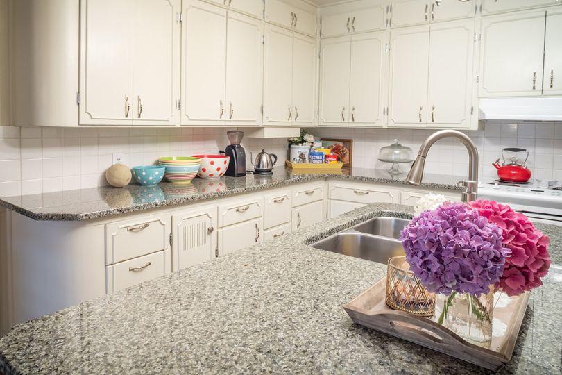 Kitchen with guest fridge