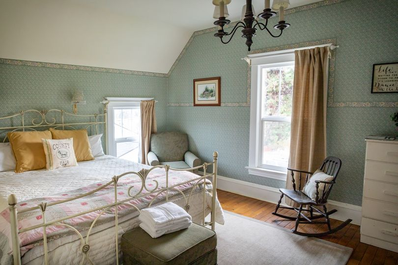 Upstairs room with king bed