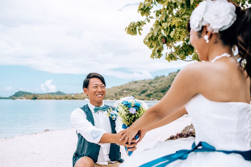 Wedding in Bora Bora - French