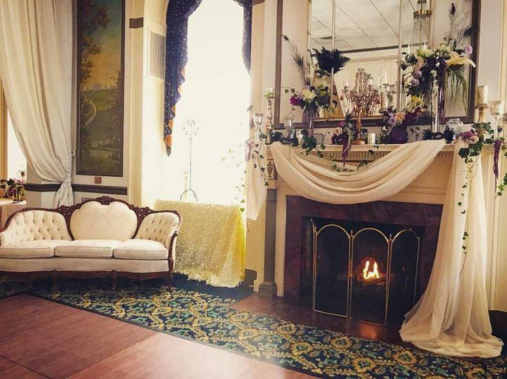 The Grand Ballroom fireplace