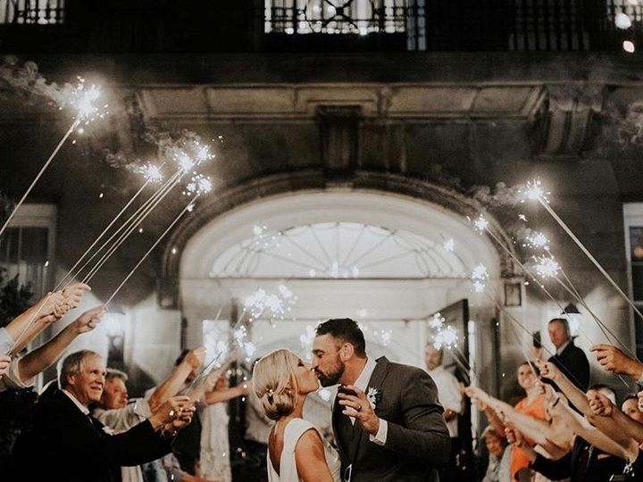 Tmx Sparklers Outside Kiss 51 89761 159708162184250 Rochester, NY wedding venue