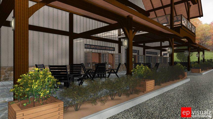 The Granary patio