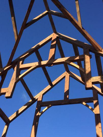 Beautiful king trusses!