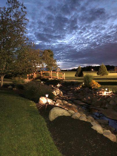 Illuminated landscape.