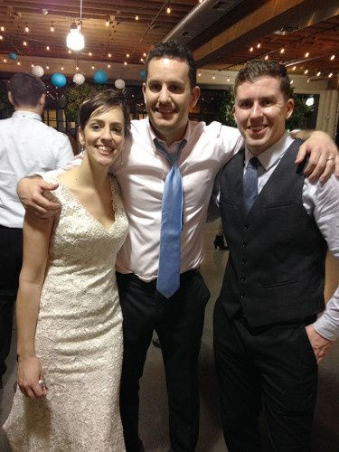 With the Bride and Groom after an awesome night of dancing!