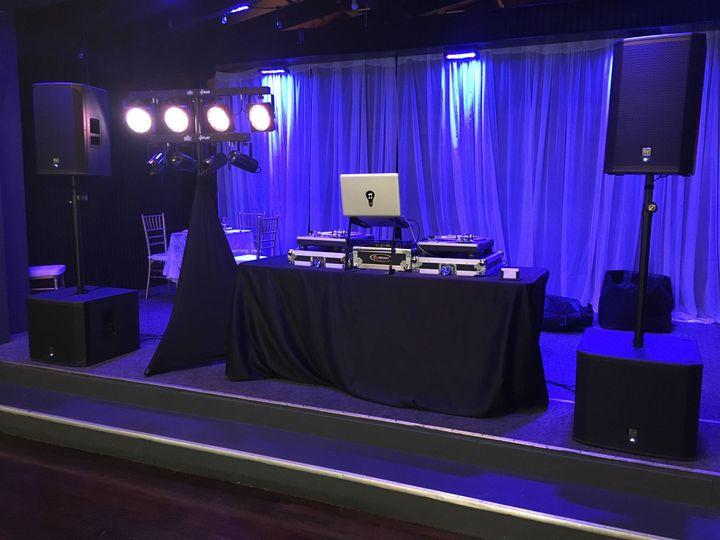 Wedding Reception DJ Setup