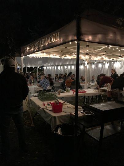 Evening tent dinner