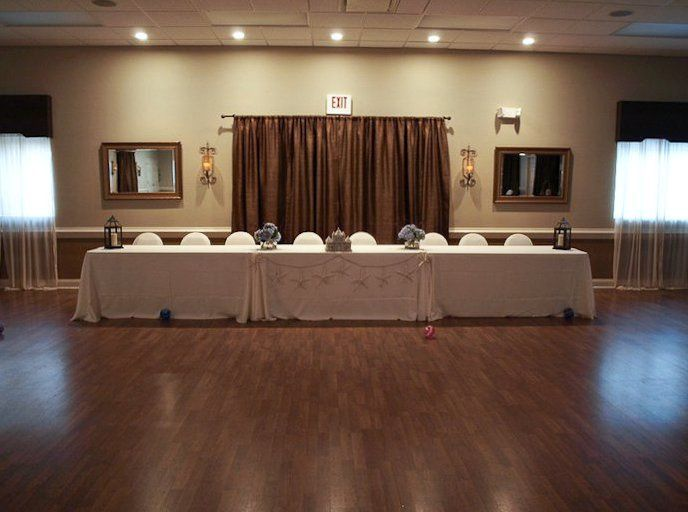 Head table at the reception