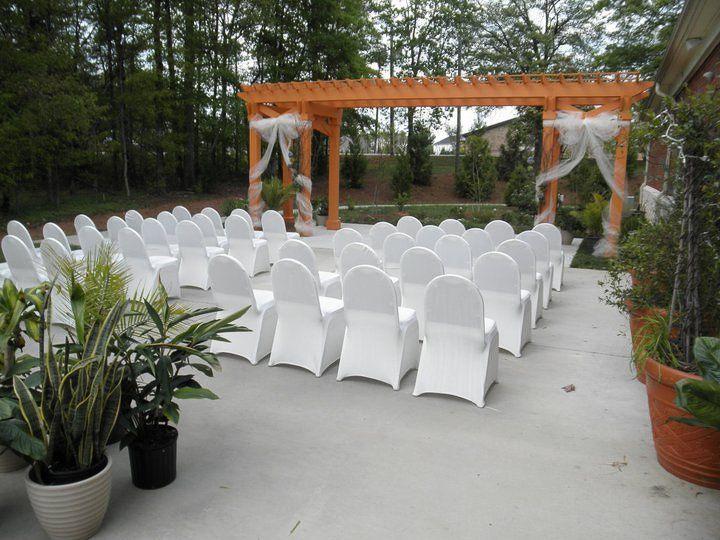 Wedding area outside