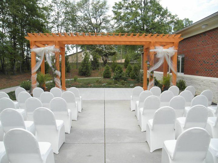 Wedding aisle and archway