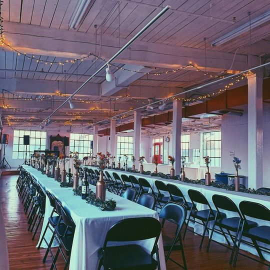 Banquet syle seating