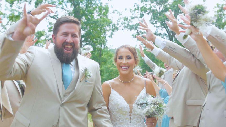 Walking through Wedding Party