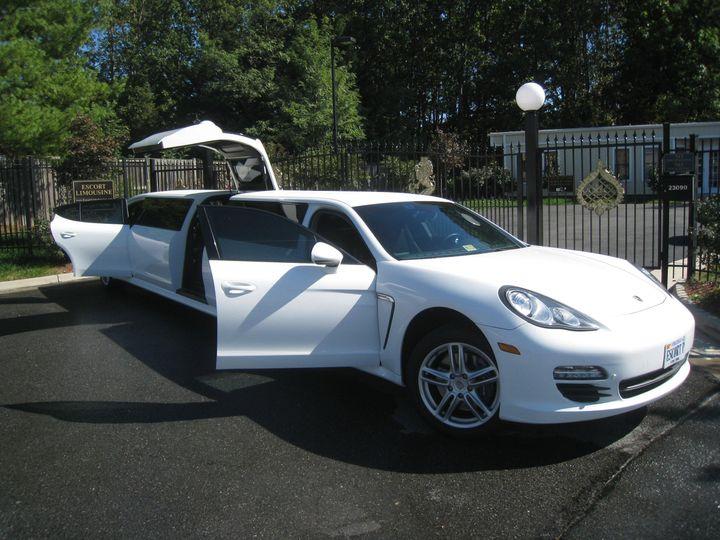 Open limousine