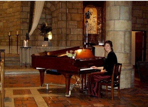 Elegant ceremony music at Our Lady of Victory performed by Minnesota Pianist for Parties, Sharon...