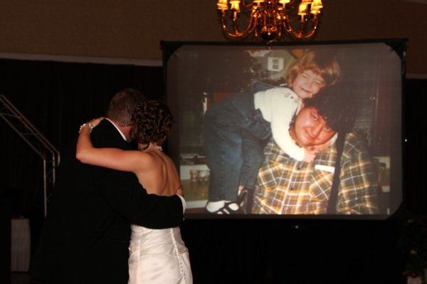 Slideshow during father-daughter dance