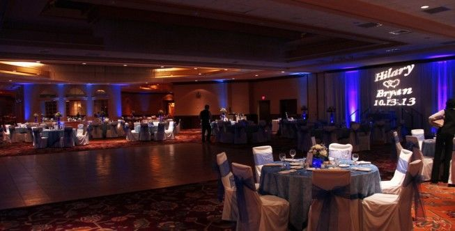 Reception hall uplighting